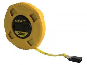 Stanley Tools Closed Case Fibreglass Long Tape 20m (Width 12.7mm)