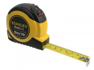 Stanley Tools Dual Lock Tylon™ Pocket Tape 5m/16ft (Width 19mm)