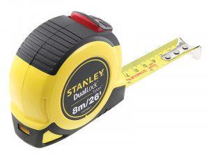 Stanley Tools Dual Lock Tylon™ Pocket Tape 8m/26ft (Width 25mm)