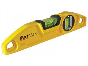 Stanley Tools FatMax® Magnetic Torpedo Twin Vial Level 22cm (9in)
