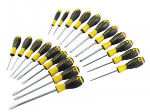 Stanley Tools 0-60-213 Essential Screwdriver Set of 20 SL/PH/PZ/TX