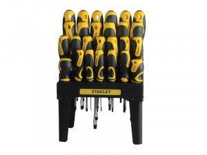 Stanley Tools 062142 Screwdriver Set In Rack Set of 26 SL/PH/PZ/TX