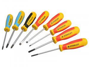 Stanley Tools Magnum Screwdriver Set of 8 SL/PH/PZ/Terminal