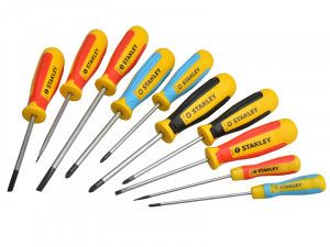 Stanley Tools Magnum Screwdriver Set of 10 SL/PH/PZ