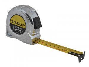 Stanley Tools Chrome Pocket Tape 8m/26ft (Width 25mm)