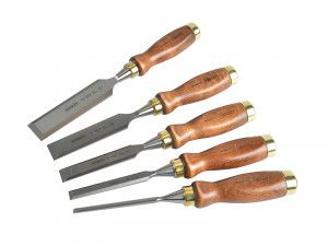 Stanley Tools Bailey Chisel Set of 5 in Leather Pouch
