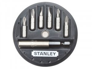 Stanley Tools Insert Bit Set Phillips/Slotted/Pozidriv 7 Piece