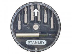 Stanley Tools Insert Bit Set Pozidriv/Slotted 7 Piece