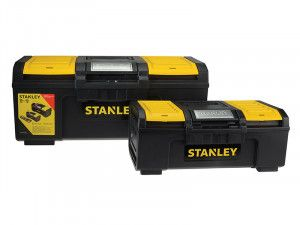 Stanley Tools One Touch DIY Toolbox 2 Pack 1 x 41cm (16in) & 1 x 60cm (24in)