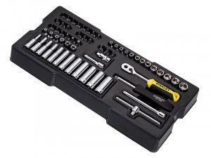 Stanley Tools Transmodule System 1/4in Drive Metric Socket Set 60 Piece