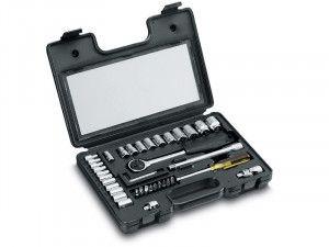Stanley Tools Socket Set of 40 Metric 1/4in & 3/8in Drive