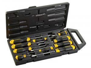 Stanley Tools Cushion Grip Screwdriver Set of 10 SL/PZ