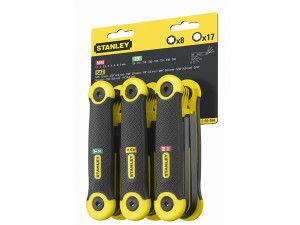 Stanley Tools Hexagon Key Folding Set of 25 Metric Imperial & Torx
