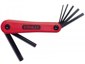 Stanley Tools Hexagon Key Folding Set of 7 Metric (2.5-10mm)
