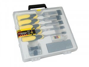 Stanley Tools DynaGrip™ Chisel + Strike Cap Set of 5 + Access