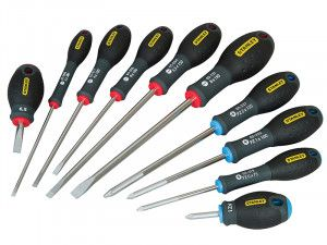 Stanley Tools FatMax® Screwdriver Parallel/Flared/Pozi Set of 10