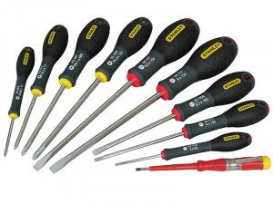 Stanley Tools FatMax® Screwdriver Parallel/Flared/Phillips Set of 10