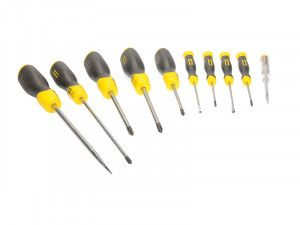 Stanley Tools Screwdriver Set of 10 SL/PH/PZ & SortMaster Junior
