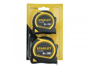 Stanley Tools Tylon™ Pocket Tapes Twin Pack 5m/16ft + 8m/26ft