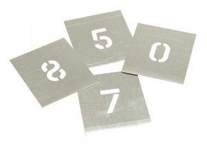 Stencils, Zinc Stencils - Numbers
