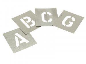 Stencils, Zinc Stencils - Letters