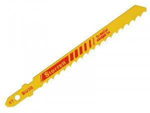 Starrett BU36-5 Wood Cutting Jigsaw Blades Pack of 5