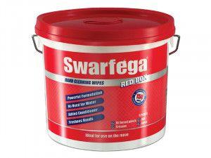 Swarfega Red Box® Heavy-Duty Trade Hand Wipes Tub of 150