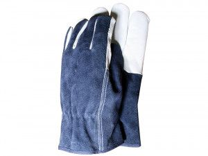 Town & Country TGL418L Premium Leather & Suede Mens Gloves (Large)