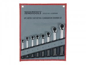 Teng Ratchet Combination Spanner Set 8 Piece Metric