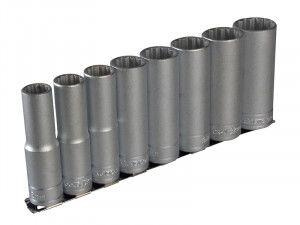 Teng M1207 Socket Clip Rail Set of 8 Metric 1/2in Drive