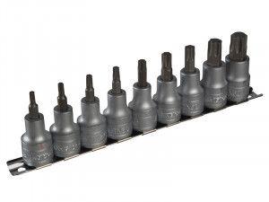 Teng M1213TX Socket Clip Rail Set of 9 Internal Torx 1/2in Drive