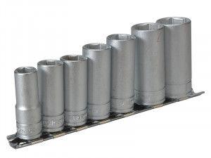 Teng M3807 Socket Clip Rail Set of 7 Metric 3/8in Drive