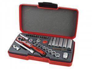 Teng T1436 Socket Set of 36 Metric 1/4in Drive