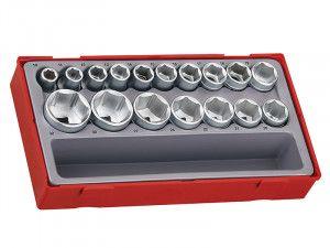 Teng TT1217-6 17 Piece Metric 6p Socket Set 1/2in Drive