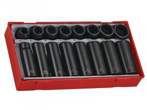 Teng TT9116 16 Piece Regular/ Deep Impact Socket Set 1/2in Drive