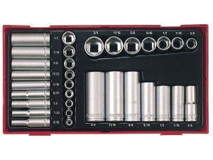 Teng TTAF32 32 Piece Reg/ Deep Socket Set 1/4-3/8in Drive