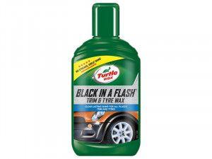 Turtle Wax Black in a Flash Trim & Tyre Wax 300ml