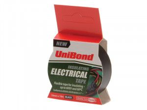 Unibond Electrical Tape Black 19mm x 10m