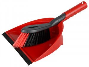 Vileda 2-in-1 Dustpan and Brush Set
