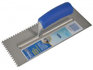 Vitrex Mosaic Trowel Square 4mm Soft Grip Handle 115 x 280mm