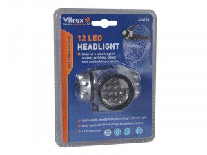 Vitrex 334170 Headlamp 12 LED