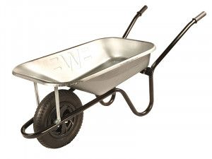 Walsall, 85 Litre Galvanised Builders Wheelbarrow