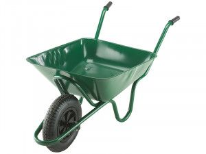 Walsall 85L Green Integral Heavy-Duty Wheelbarrow
