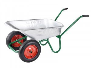 Walsall 90L Galvanised Windsor Twin Wheelbarrow