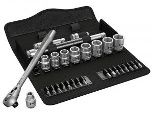 Wera Zyklop Metal-Switch Slim Ratchet & Socket Set of 29 Metric 3/8in Drive