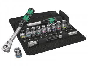 Wera 8006 SC 1 Zyklop Hybrid Metric Socket Set of 13 Metric 1/2in Drive