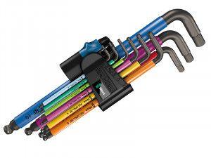 Wera 950 SPKL/9 Hex-Plus Holding Function Metric L-Key Set of 9 (1.5-10mm)