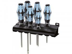 Wera Kraftform Plus Stainless Steel Screwdriver Set, 6 Piece SL/PH/PZ