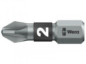 Wera 855/1 BTZ BiTorsion Pozidriv PZ2 Bit Extra Tough 25mm Pack 10