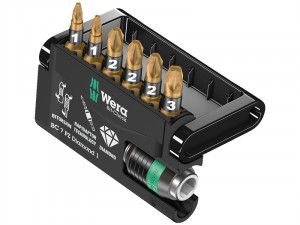 Wera, Bit-Check 7 Diamond 1 BiTorsion Diamond PZ Set of 7